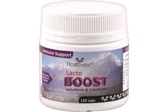 HealthWise LactoBoost (Lactoferrin and Colostrum) 120c