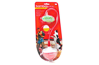 Munchkin Bamboo Weighted Mouse Catfisher Bobbing Cat Toy (White/Red) (One Size)