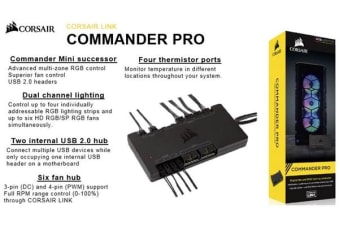 CORSAIR Commander PRO Digital 6x PWM Fan Hub and RGB Lighting Controller. 2 Years Warranty