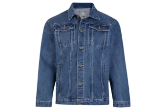 Kam Jeanswear Mens Western Denim Jacket (Stonewash)