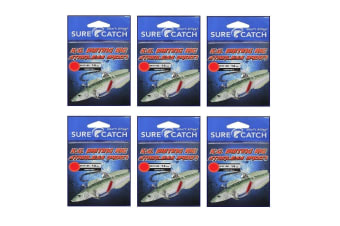 6 Pack of Surecatch King George Whiting Rigs with Stainless Steel 34007 Hooks [Hook Size: 6]