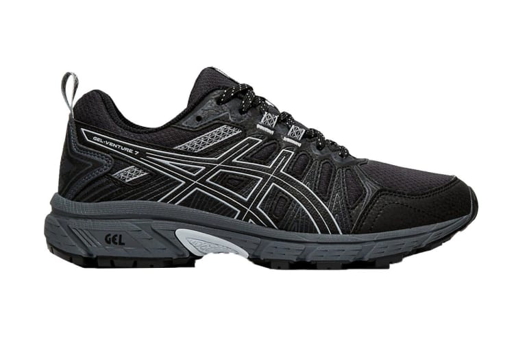 ASICS Women's Gel-Venture 7 Running Shoe (Black/Piedmont Grey, Size 8.5 US)