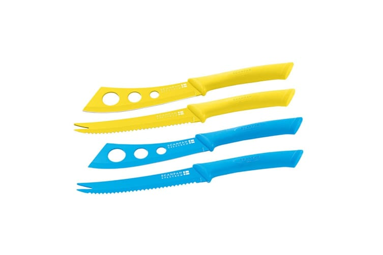 Scanpan Cheese Pate Knife Set Stainless Steel Non-Stick Cutlery Yellow & Blue