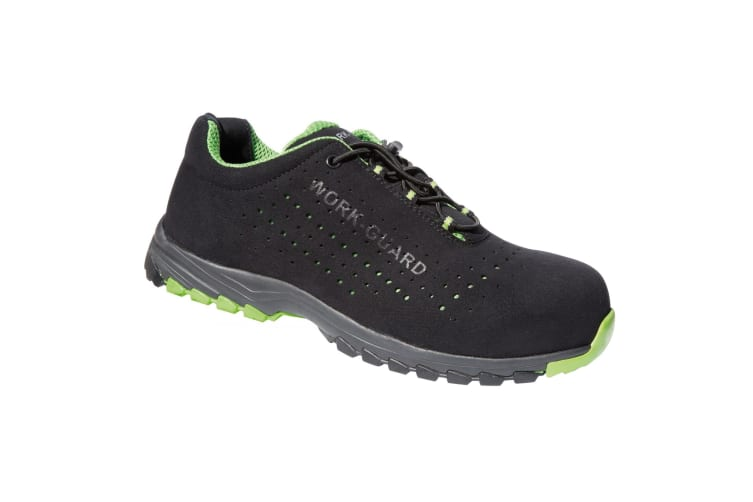 Result Workguard Mens Shield Safety Trainers (Black/Lime Green) (10 UK)