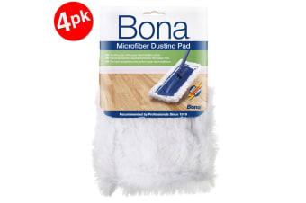 4PK Bona Microfibre Dusting Pad for Floor Mop Cleaning/Dust Washable/Reusable