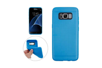 the best attitude 3a24d a4195 For Samsung Galaxy S8 Case Honeycomb Texture Durable Shielding Cover Blue