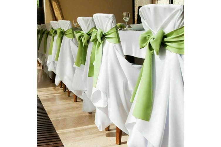 Satin Chair Sashes Cloth Cover Wedding Party Event home Decoration Table Runner  -  50 PcsNavy Blue