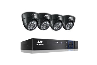 UL-TECH 1080P Four Channel HDMI CCTV System with 4 Cameras (Black)