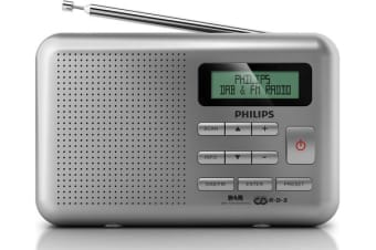 Philips Portable Dab Digital Radio Fm Tuner Dab+ Rds