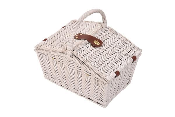 Deluxe 2 Person Picnic Basket Set Outdoor Corporate Blanket Park Trip