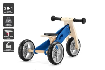 Kogan 2-in-1 Trike & Balance Bike (Blue)