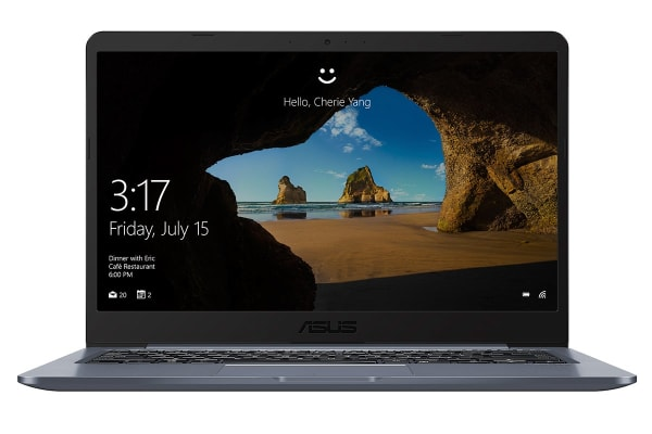 "ASUS 14"" E406 Intel Dual-Core Celeron N3060 4GB RAM 64GB eMMC Windows 10S Notebook (E406SA-BV005T)"