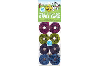 Bags On Board Patterned Dog Waste Refill Bags (120 Bags) (Multicoloured)