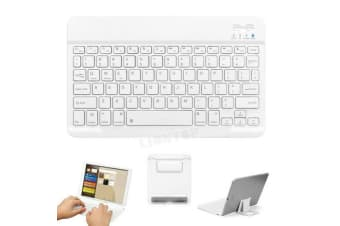 Wireless Bluetooth Keyboard For iPad 7th Gen 10.2 2019-White