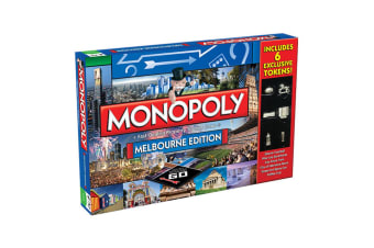 Monopoly Kids/Family Australian Melbourne Edition Property Trade Board Game 8y+