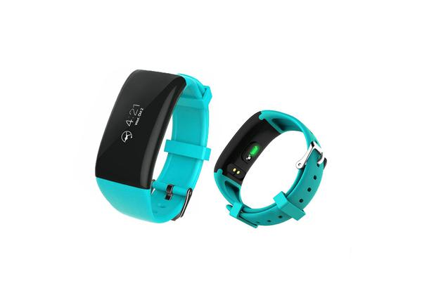Smart Watch Fitness Tracker Heart Rate Bpm Android Ios App Blue