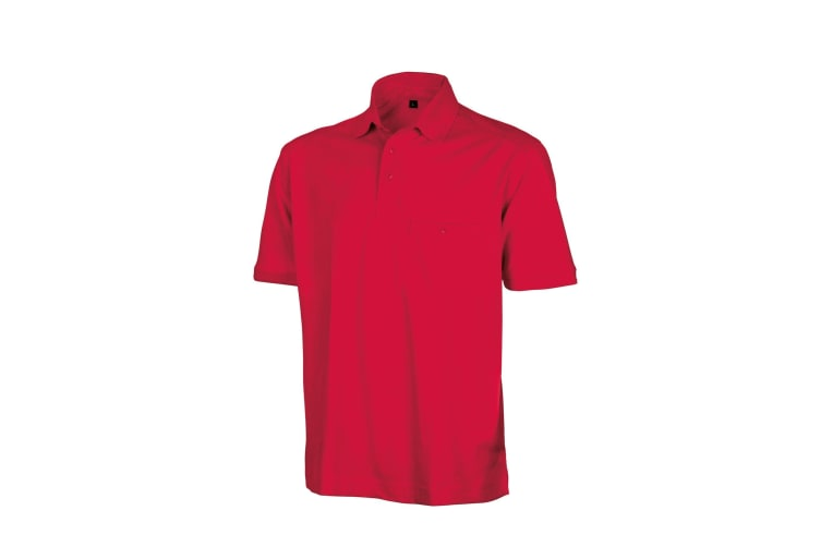 Result Mens Work-Guard Apex Short Sleeve Polo Shirt (Red) (5XL)