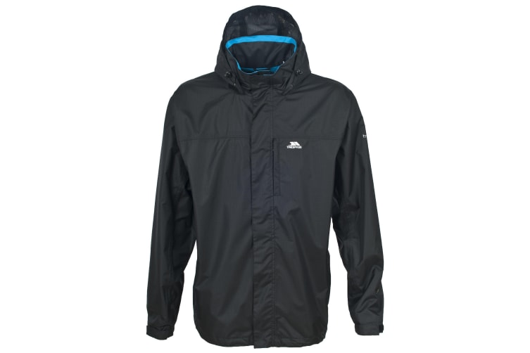 Trespass Mens Fraser II Waterproof Jacket (Black) (XXS)