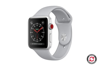 Apple Watch Series 3 Refurbished (Silver, 38mm, Fog Sport Band, GPS + Cellular) - A Grade