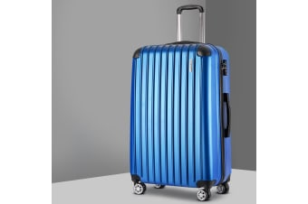 "20"" Blue Luggage Sets Suitcase Trolley Travel Hard Case Lightweight"