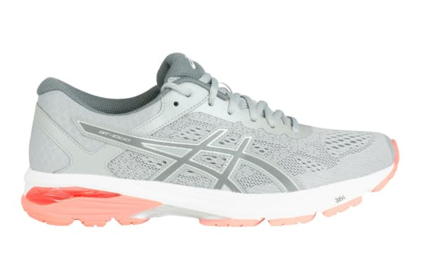 f5ad1f145ed96 ASICS Women's GT-1000 6 Running Shoe (Mid Grey/Carbon/Flash Coral, Size 6)  - Kogan.com