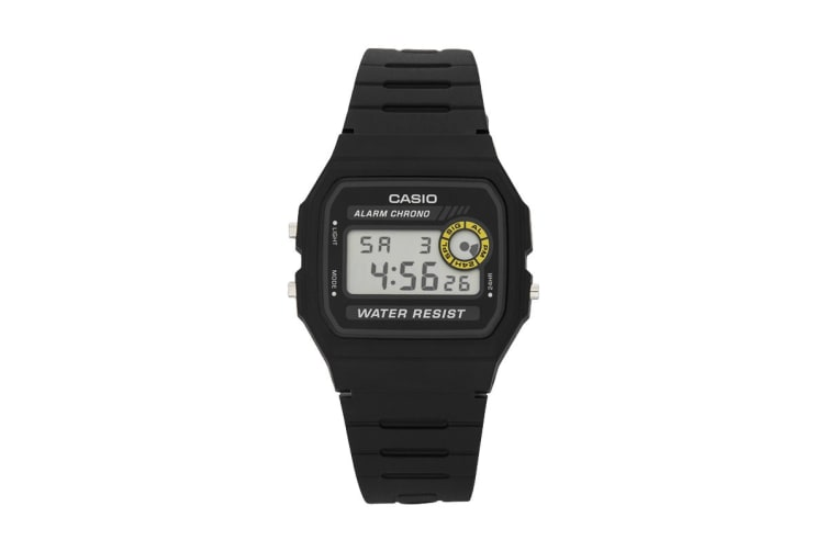 Casio G-Shock Digital Sports Watch with Resin Band - Black (F94WA-8D)