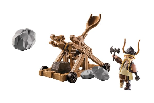 Playmobil How to Train Your Dragon Gobber with Catapult