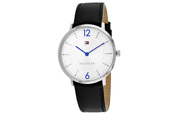 Tommy Hilfiger Men's Sophisticated Sport Watch (Silver Dial, Leather Strap)