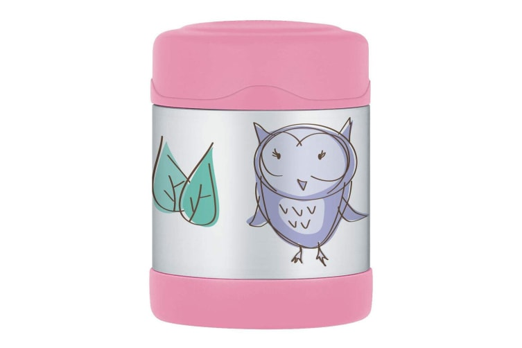 Thermos Funtainer 290ml Food Jar Stainless Steel Vacuum Insulated Flask Pink Owl
