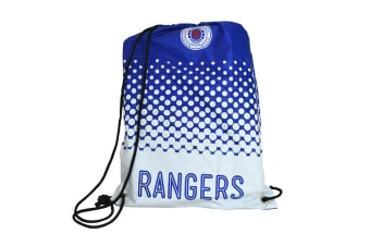Rangers FC Official Football Crest Fade Drawstring Bag (White/Blue)