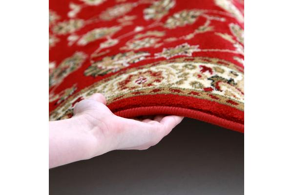 Traditional Floral Pattern Runner Red 400x80cm