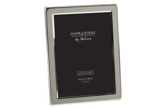 Impressions By Juliana Silver Plated Flat Edge Photo Frame (Silver) (5in x 7in)