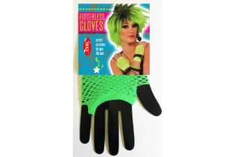 Silky Womens/Ladies Short Fishnet Gloves (1 Pair) (Neon Green) (One Size)