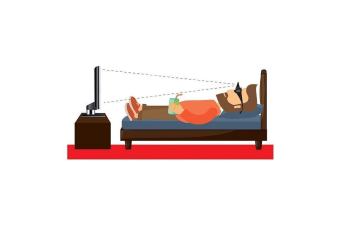 Couch Potato`s Glasses - Horizontal Mirror Spectacles Lying Down Reading Watching TV Lazy