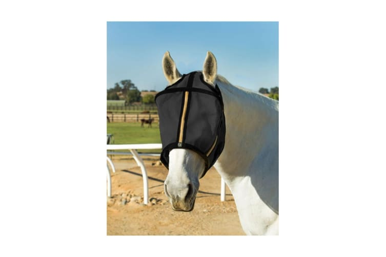 Noble Outfitters Guardsman Fly Mask No Ears (Black) (XX-Large)