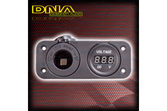 Dna Cigarette & Voltmeter Auxilary Sockets 12V Volt Caravan Flush Mount Pa202