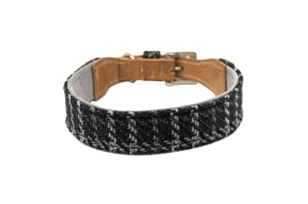 Ralph & Co Tweed & Leather Collar (Ascot Black)