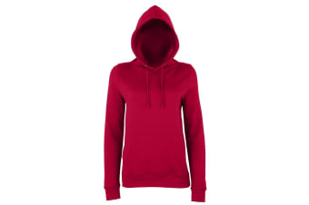 AWDis Just Hoods Womens/Ladies Girlie College Pullover Hoodie (Red Hot Chilli) (L)