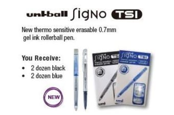 UNI-BALL PEN UNI SIGNO TSI RB ERASABLE 0.7MM BX48(DEAL)
