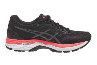 ASICS Women's GT-2000 5 Running Shoe (Black/Carbon/Flash Coral)