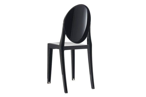 Ovela Set of 4 Ghost Dining Chairs (Black)