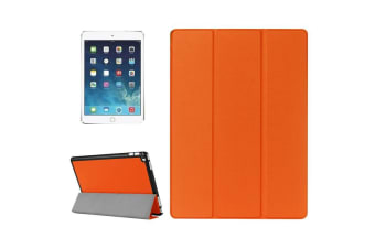 For iPad Pro 12.9 Inch Cover  Leather Smart Durable Shielding Cover Orange