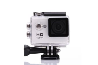 1080P Full Hd Sports Camera 30M Waterproof Loop Rec A9 Action Camera - White