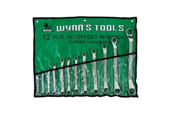 Double Ring Offset Wrench Spanner Tool Set - 12PCS