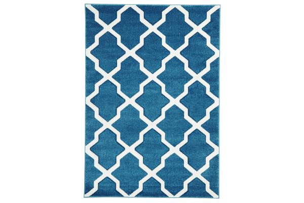 Cross Hatch Modern Rug Blue 170x120cm