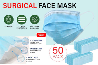 3 Ply Surgical Disposable Mask (50 Pack)