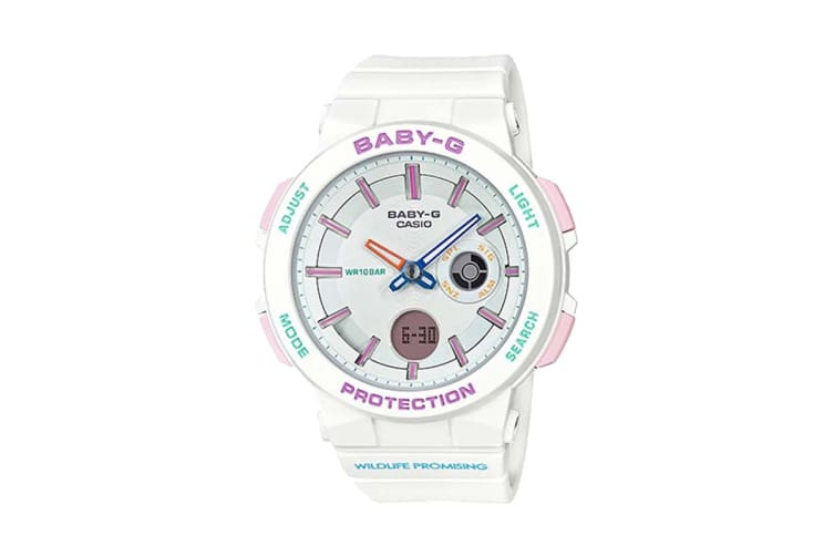 Casio Baby-G Analog Digital Female Watch with Resin Band - White (BA255WLP-7A)