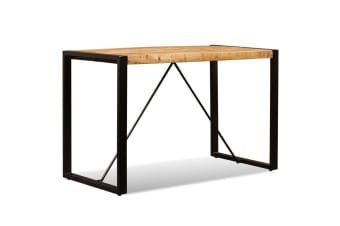 vidaXL Dining Table Solid Rough Mango Wood 120 cm