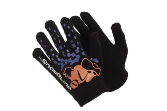 Boys Black Winter Magic Gloves With Rubber Print (Design 3) (One Size)