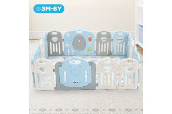 ABST Baby Playpen Interactive Kids Activity Center Safety Play Room - 16 Panels